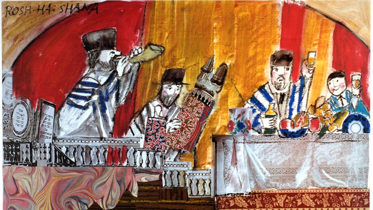La teshuvà a Rosha Hashanà. Disegno di Emanuele Luzzati