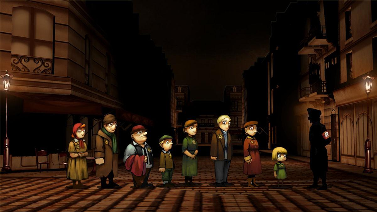 Un'immagine del videogioco sulla Shoah Light in the Darkness