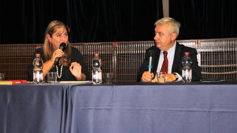 Fiona Diwan e Maurizio Molinari alla serata inaugurale di Kesher