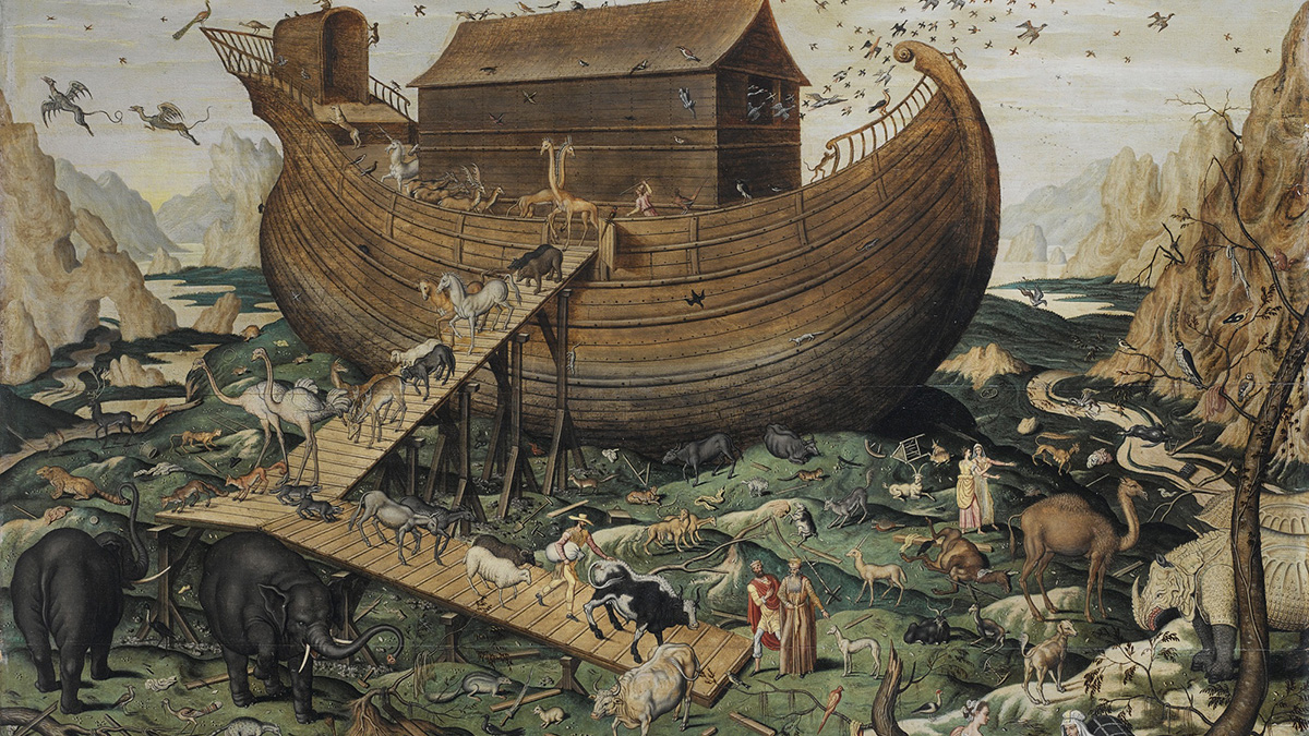 L'arca di Noach con gli animali