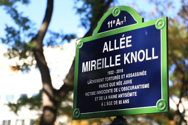 La via intitolata a Parigi a Mireille Knoll